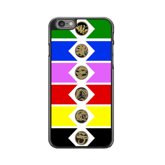 Mighty Morphin Power Rangers Colored Wallpaper iPhone 6|6S Case | Babycasee