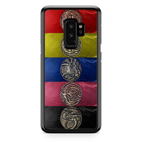 Round Silver Colored Coins Mighty Morphin Power Rangers Samsung Galaxy S9 Plus| Babycasee