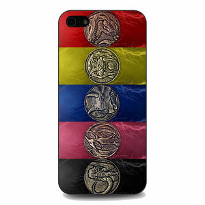 Round Silver Colored Coins Mighty Morphin Power Rangers iPhone 5|5S|SE Case | Babycasee