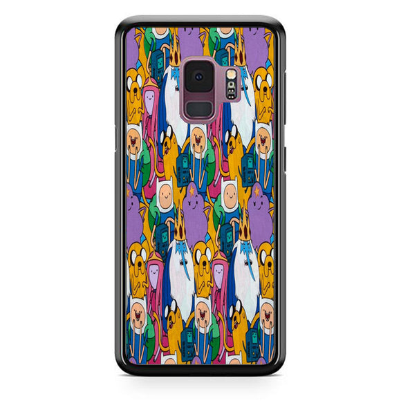 Adventure Time Pattern Doodle Art Samsung Galaxy S9 Case | Babycasee