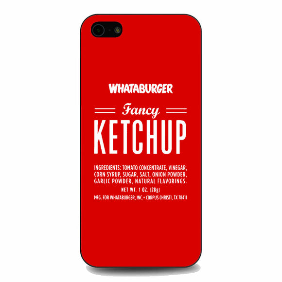 Fancy Ketchup Whataburger iPhone 5|5S|SE Case | Babycasee