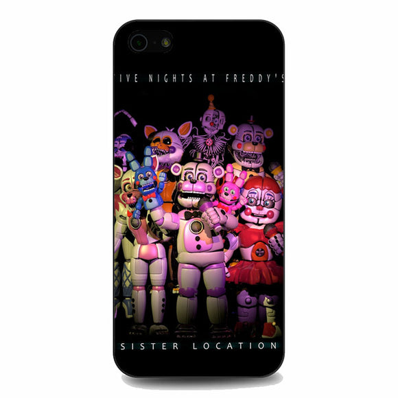 Five Nights At Freddys Sister Location Poster iPhone 5|5S|SE Case | Babycasee