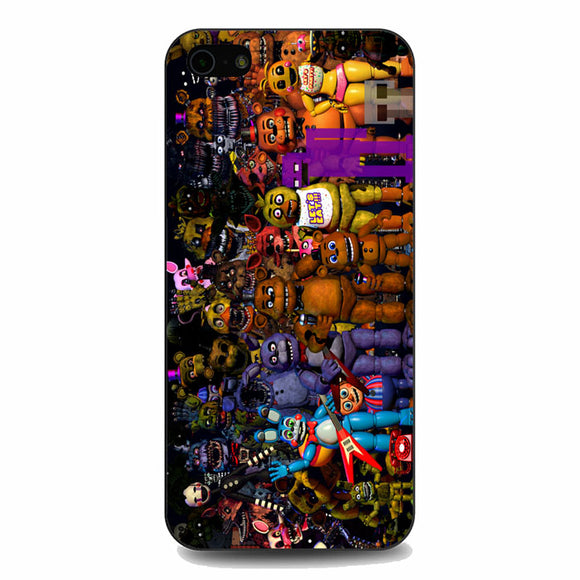 Fnaf Five Nights At Freddys Monster All Character iPhone 5|5S|SE Case | Babycasee