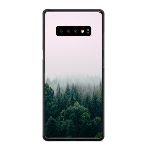 Foggy In Forest Mountain Samsung Galaxy S10 Case | Babycasee