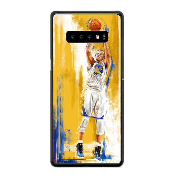 Golden State Warriors Stephen Curry Painting Samsung Galaxy S10e Case | Babycasee