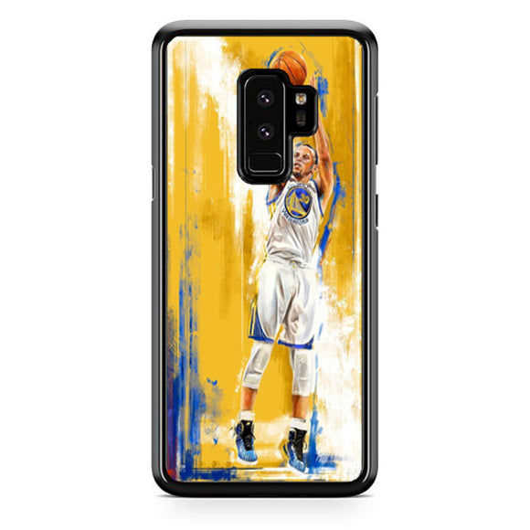 Golden State Warriors Stephen Curry Painting Samsung Galaxy S9 Plus| Babycasee