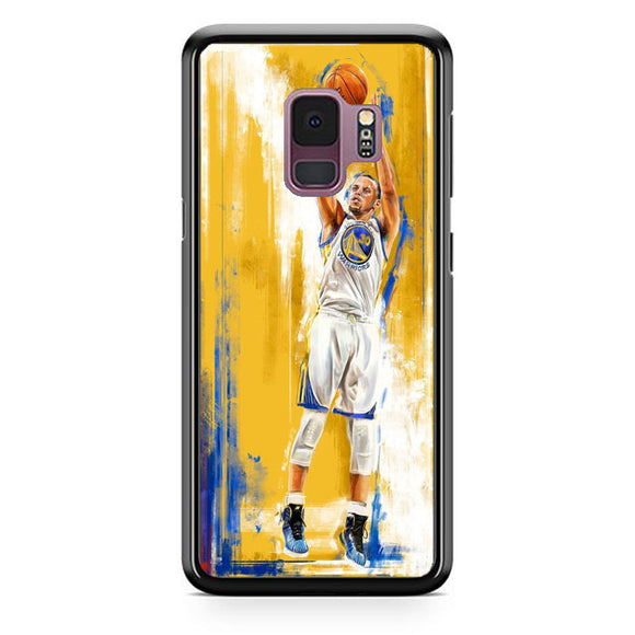 Golden State Warriors Stephen Curry Painting Samsung Galaxy S9 Case | Babycasee