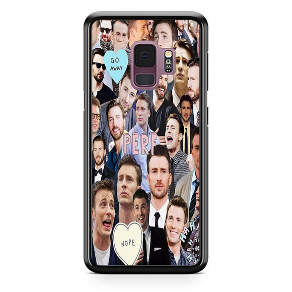 Chris Evans Photo Collages Perf Samsung Galaxy S9 Case | Babycasee