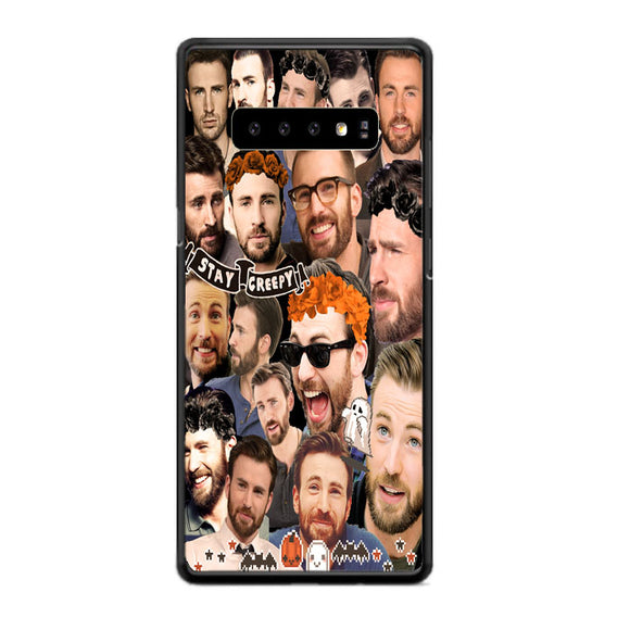 Chris Evans Stay Creepy Photo Collages Samsung Galaxy S10 Case | Babycasee