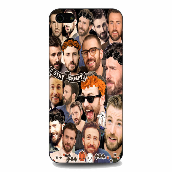Chris Evans Stay Creepy Photo Collages iPhone 5|5S|SE Case | Babycasee