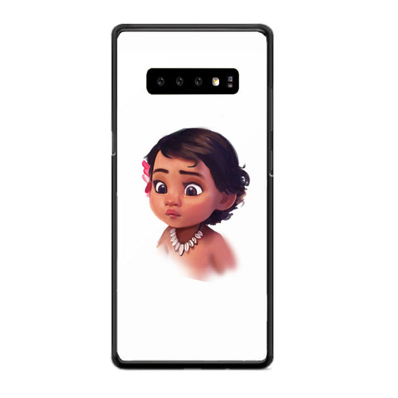 Confused Baby Moana Samsung Galaxy S10 Case | Babycasee