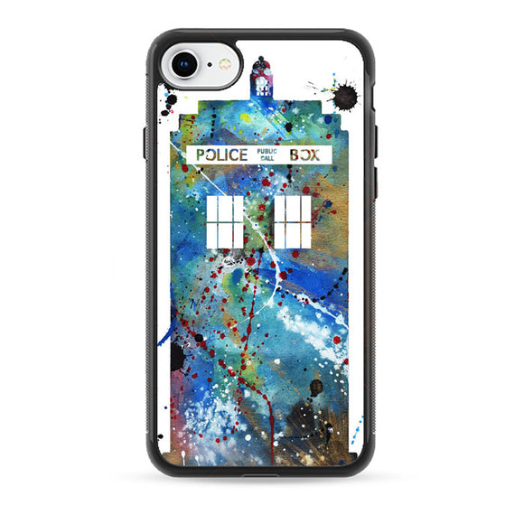 Police Box Watercolor iPhone 8 Case | Babycase
