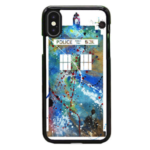 Police Box Watercolor iPhone X Case | Babycase