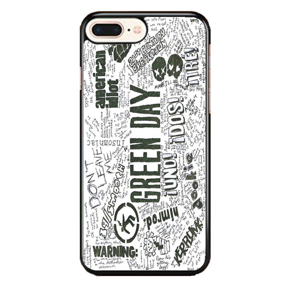 Green Day Art Quotes iPhone 7 Plus Case | Babycase