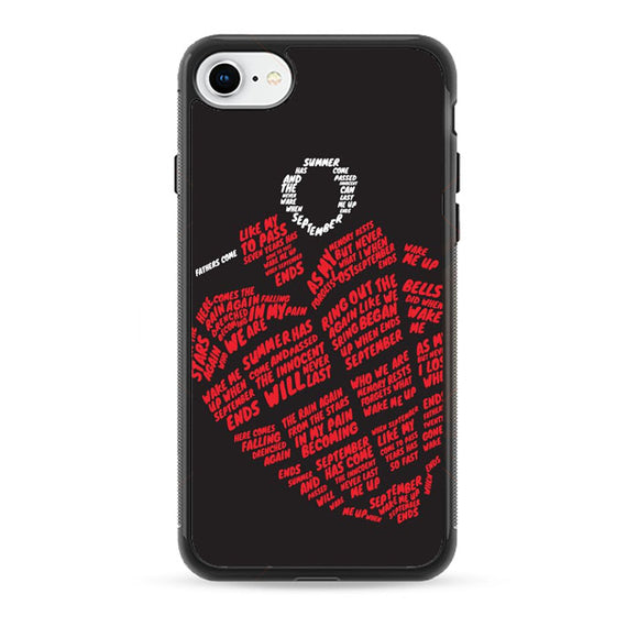 Greenday American Idiot Heart Logo Typograph iPhone 8 Case | Babycase