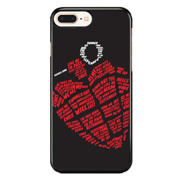 Greenday American Idiot Heart Logo Typograph iPhone 7 Plus Case | Babycase