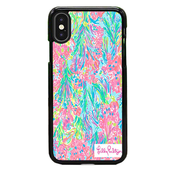 Lilly Pulitzer Palm Beach Coral iPhone X Case | Babycase