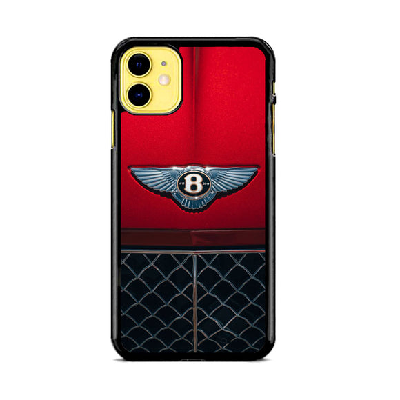 Red Bentley Car Emblem Wallpaper iPhone 11 Case | Babycase