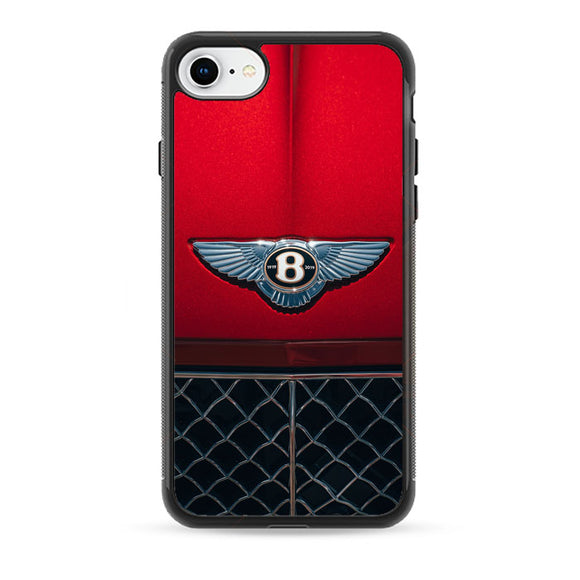 Red Bentley Car Emblem Wallpaper iPhone 8 Case | Babycase