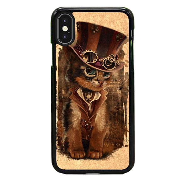 Kat Steampunk iPhone X Case | Babycasee