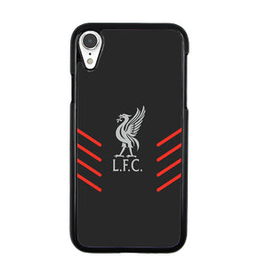 Liverpool Fc Gray Wallpaper Logo iPhone XR Case | Babycasee