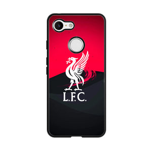 Liverpool Fc White Logo Red Black Wallpaper Google Pixel 3 XL Case | Babycasee