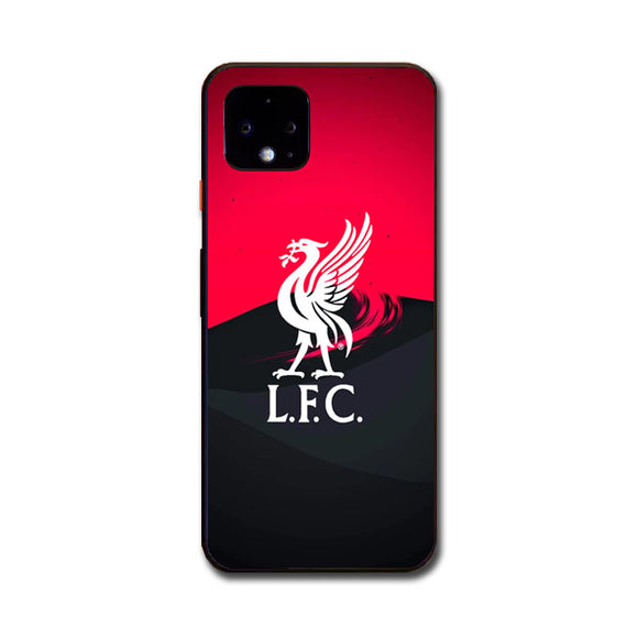 Liverpool Fc White Logo Red Black Wallpaper Google Pixel 4 XL Case | Babycasee
