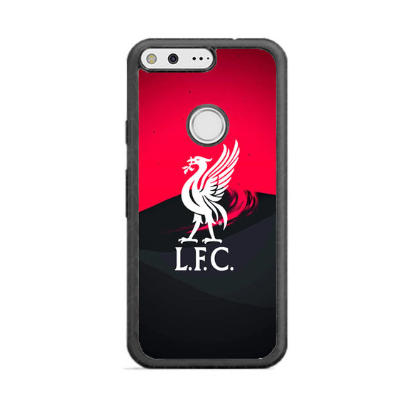 Liverpool Fc White Logo Red Black Wallpaper Google Pixel XL Case | Babycasee