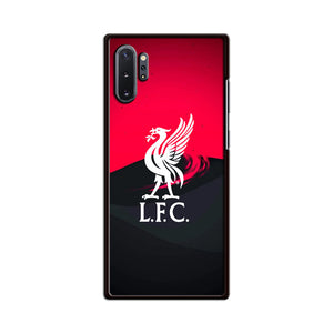 Liverpool Fc White Logo Red Black Wallpaper Samsung Galaxy Note 10 Plus Case | Babycasee