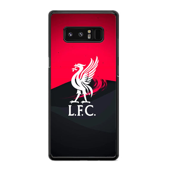 Liverpool Fc White Logo Red Black Wallpaper Samsung Galaxy Note 8 Case | Babycasee