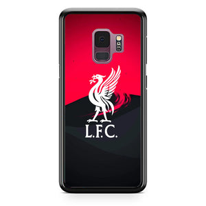 Liverpool Fc White Logo Red Black Wallpaper Samsung Galaxy S9 Case | Babycasee