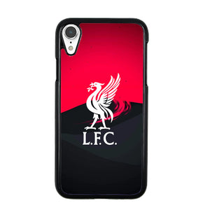 Liverpool Fc White Logo Red Black Wallpaper iPhone XR Case | Babycasee