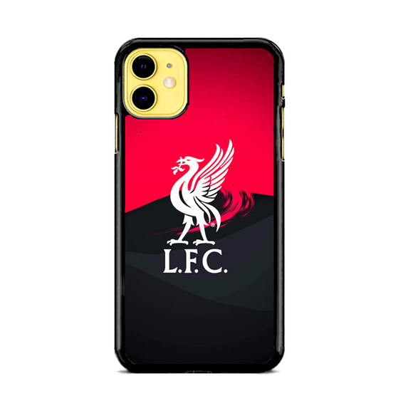 Liverpool Fc White Logo Red Black Wallpaper iPhone 11 Case | Babycasee