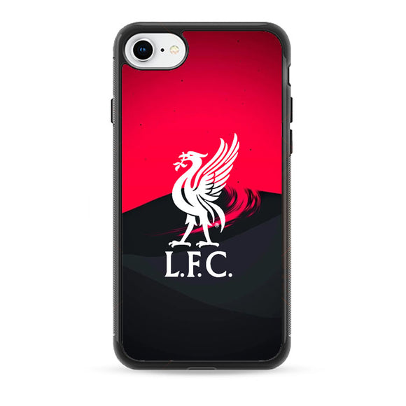 Liverpool Fc White Logo Red Black Wallpaper iPhone 8 Case | Babycasee