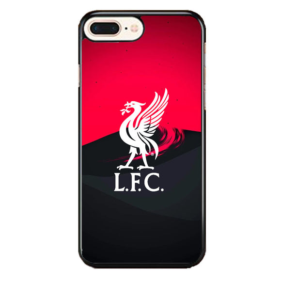 Liverpool Fc White Logo Red Black Wallpaper iPhone 7 Plus Case | Babycasee
