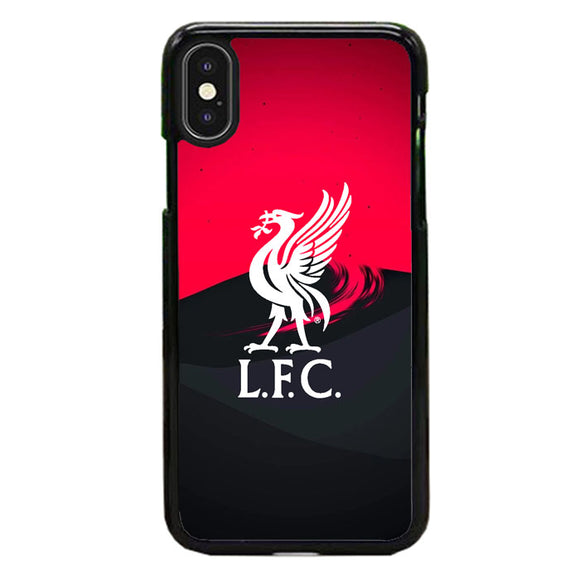 Liverpool Fc White Logo Red Black Wallpaper iPhone XS Max Case | Babycasee