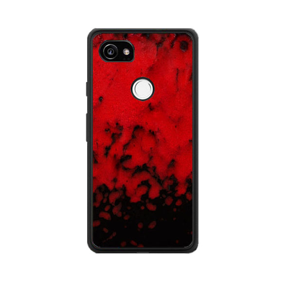 Red Stone Stoneware Marble Google Pixel 2 Case | Babycasee