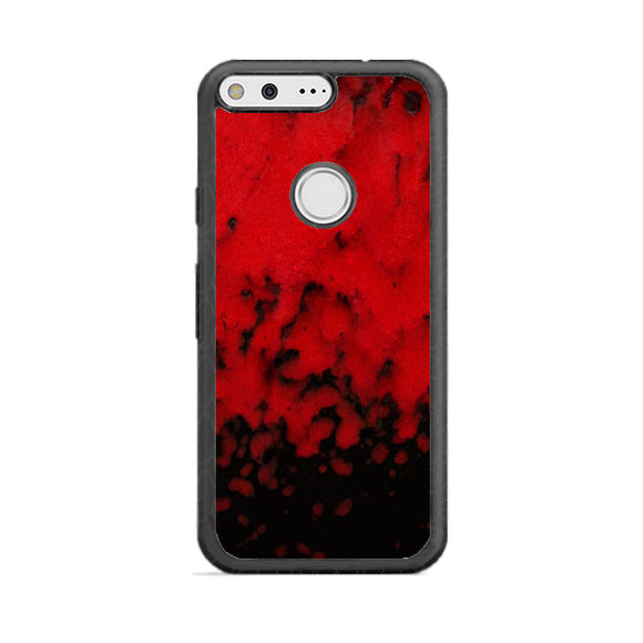 Red Stone Stoneware Marble Google Pixel Case | Babycasee