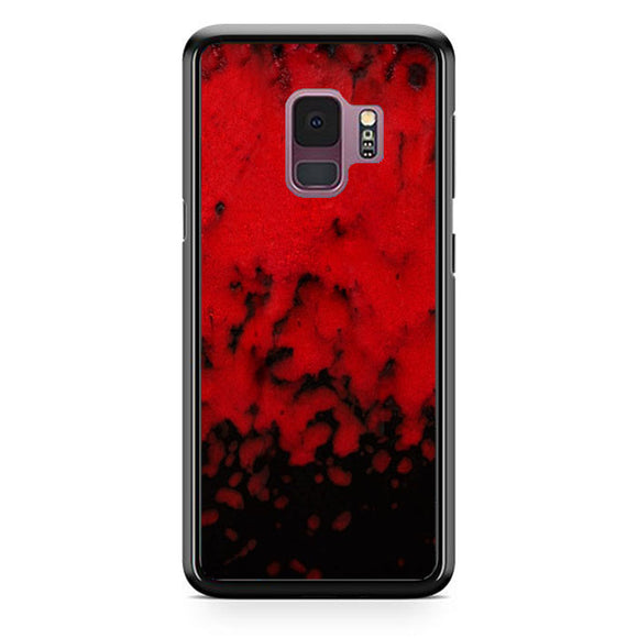 Red Stone Stoneware Marble Samsung Galaxy S9 Case | Babycasee