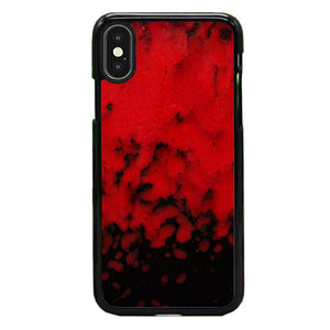 Red Stone Stoneware Marble iPhone XS Case | Babycasee