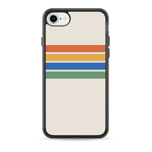 Rainbow Stripes Color Block iPhone 7 Case | Babycasee