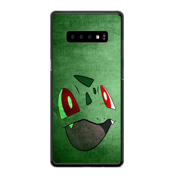 Anime Pokemon Minimalist Bulbasaur Green Samsung Galaxy S10 Case | Babycasee