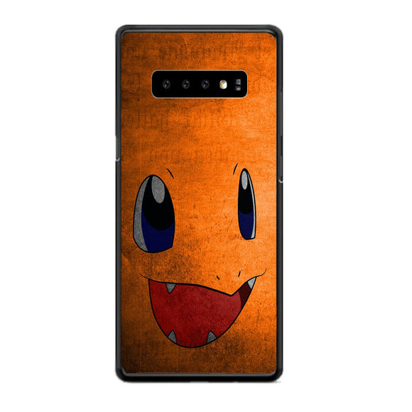 Anime Pokemon Minimalist Charmander Orange Samsung Galaxy S10 Case | Babycasee