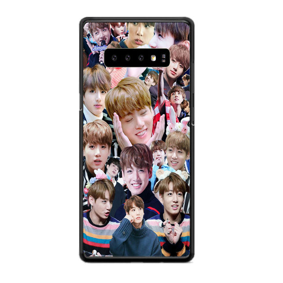 Bts Jungkook Kookie Collage Wallpaper Samsung Galaxy S10 Case | Babycasee