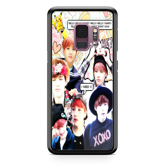 Bts Suga Collage Wallpaper Samsung Galaxy S9 Case | Babycasee