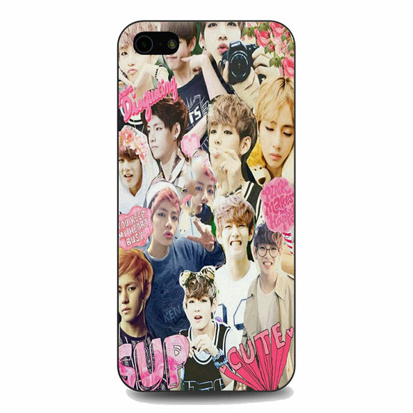 Bts V Taehyung Noise Collage iPhone 5|5S|SE Case | Babycasee