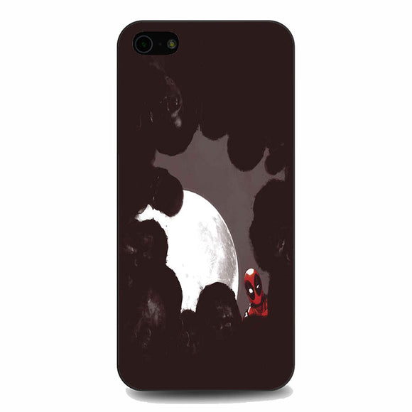 Deadpool Marvel Moon Night Zombie Superhero iPhone 5|5S|SE Case | Babycasee