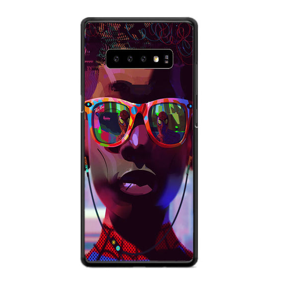 Miles Morales Sunglasses Spiderman Into The Spider Verse Aesthetics Samsung Galaxy S10e Case | Babycasee