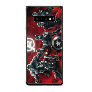 Avengers Endgame Characters Red Samsung Galaxy S10 Plus Case | Babycasee