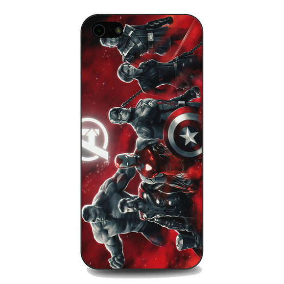 Avengers Endgame Characters Red iPhone 5|5S|SE Case | Babycasee